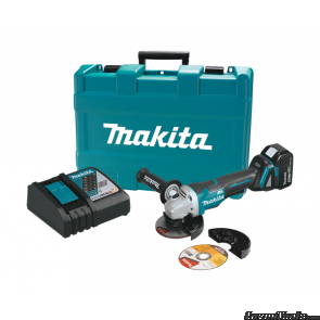 "Makita 18V Brushless 4-1/2"" Paddle Switch Grinder XAG06 Kit"