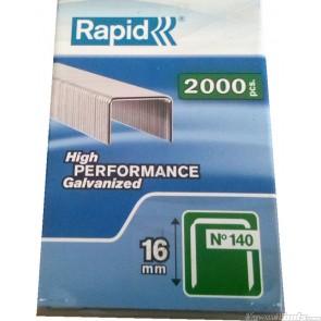 Rapid Staples 140/16 2000pcs Plastic Box RS140162PP