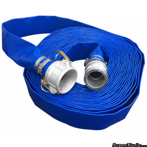 Layflat Hose Blue 50mm x 20m with M/F quick connect coupling 228-LF5020
