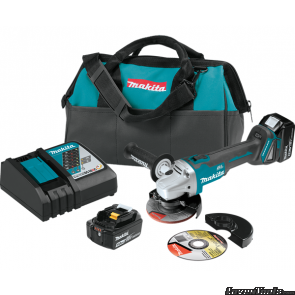 "Makita XAG04T2 18V Brushless Cordless 4-1/2 / 5"" Cut Off Angle Grinder XAG04T2"