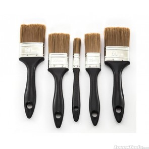 5pk Synthetic Brushes Black Plastic Handle SA5
