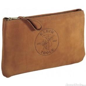 KLEIN TOOLS Top-Grain Leather Zipper Bag 5139L
