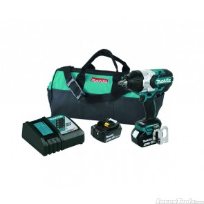 "Makita 18V Brushless Cordless High Torque 1/2"" Sq. Drive Impact wrench XWT08M Kit w/ Friction Ring Anvil"