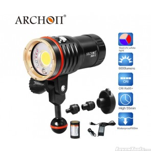 Archon COB LED CRI95 Diving Flashlight 6000lumens Underwater WM26II/DM20-II