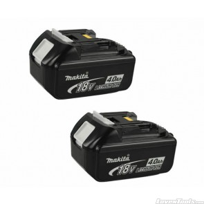 Makita 18V 4.0ah Li-ion Battery x 2 BL1840-2