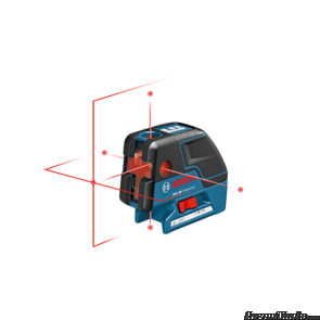 BOSCH Five-Point Self Leveling Alignment Laser with Cross-Line GCL25
