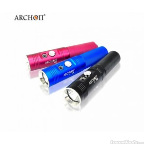 Archon Diving Flashlight Max 860 lumens (Red/Blue/Black) V10S