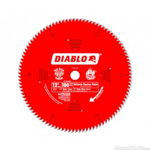 DIABLO 12 in. x 100 Tooth Ultimate Flawless Finish Saw Blade D12100X