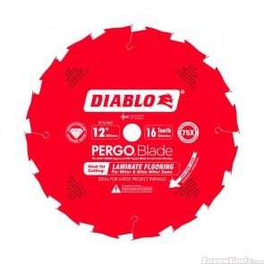 DIABLO 12 in. x 16 Tooth (PCD) Laminate Flooring PERGO Blade D1216LF