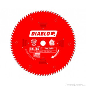 DIABLO 12 in. x 80 Tooth Fine Finish Saw Blade D1280X
