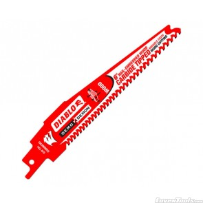 """DIABLO 6"""" Demo Demon Carbide-tipped Recip Blade for Nail-Embedded Wood DS0606CWS"""