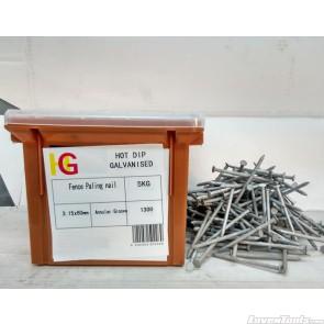 KBAO Fence Paling Annular Groove Nail - HD Galv LGFE315060AG5KG 3.15 x 60mm