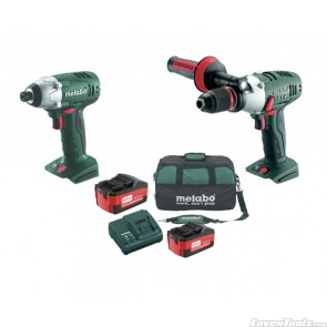 Metabo Cordless 18V 2-Piece 4.0Ah SBLTX+SSDLT Combo Kit