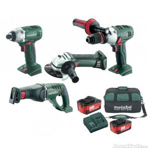 Metabo Cordless 18V 4-Piece 4.0Ah SBLTXG4 Combo Kit