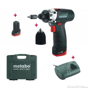 Metabo Cordless 10.8V Drill Powermaxx 12 Basic 1.5Ah PMX12BASIC Combo Kit