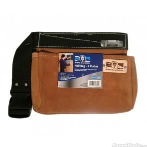 Leather Nail Bag 2 Pocket SJ-LDNB2