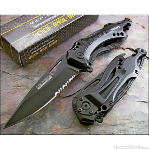 Tac Force TF-705 Series Assisted Opening Folding Knife 4.5-Inch Closed TF-705BK