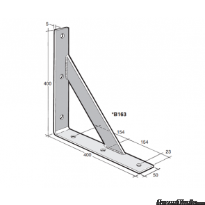 BOWMAC ANGLE BRACKETS (With Gusset) B165