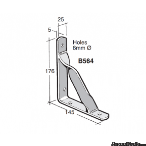 BOWMAC ANGLE BRACKETS (With Gusset) B564