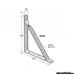 BOWMAC ANGLE BRACKETS (With Gusset) B566