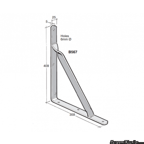 BOWMAC ANGLE BRACKETS (With Gusset) B567