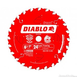 DIABLO 6-1/2 in. 24 Tooth Framing Saw Blade D0624X