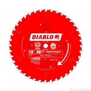 DIABLO 10 in. x 40 Tooth General Purpose Saw Blade D1040X