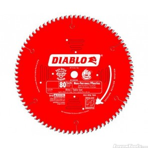 DIABLO 10 in. x 80 Tooth Non-Ferrous/Plastic Saw Blade D1080N