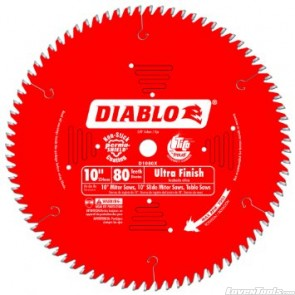 DIABLO 10 in. x 80 Tooth Ultra Finish Saw Blade D1080X