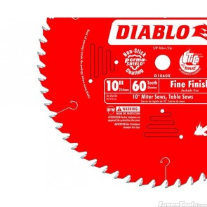 DIABLO 10 in. x 60 Tooth Fine Finish Saw Blade D1060X