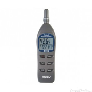 Reed Digital Psychrometer / Thermo-Hygrometer, Wet Bulb, Dew Point, Te 8706