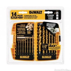 DeWALT 14PC Titanium PP Drill Bit Set DW1354