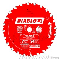 DIABLO 7-1/4 in. x 24 Tooth Framing Saw Blade D0724A