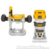DeWALT Corded 900W 1/4in Combination Plunge & Fixed Base Router D26204K-XE
