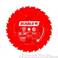 DIABLO 10 in. x 24 Tooth Ripping Saw Blade D1024X