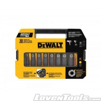 "DeWALT 10pc 1/2"" Drive Socket Set DW22812"
